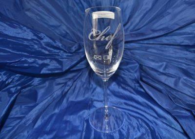 Gravierte sektglas, ideal als Geschenk.