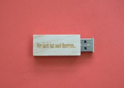 USB Stick mit Lasergravur