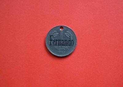 Münze mit nachträglicher Gravur