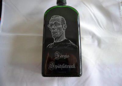 glasflaschen mit fotogravur