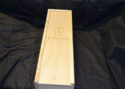 Holz box gravieren