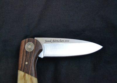 Messer Gravieren