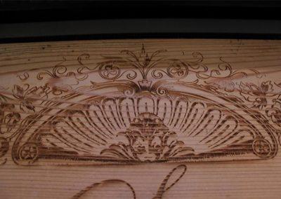 Motiven auf Holz Gravieren