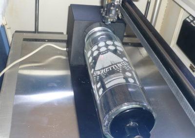 einer Lasergravur in Glas
