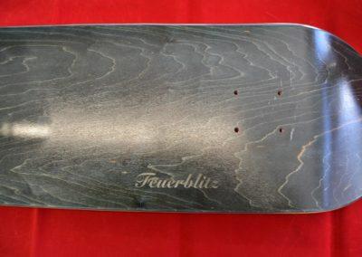 Lasergravierte Skateboard