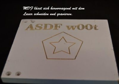 MDF-Laserschneiden-Lasergravieren