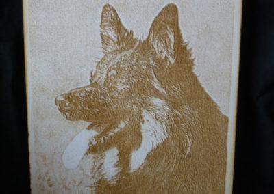 Bild auf Holz gravieren
