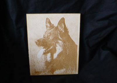 Holz mit Fotogravur