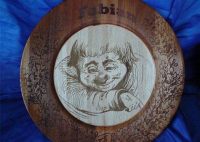 Holzteller Gravieren