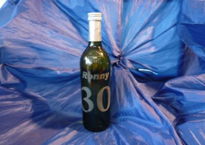 Flasche mit Gravur - Geburtstagsgeschenk