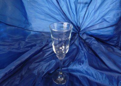 Gravierte Sektglas