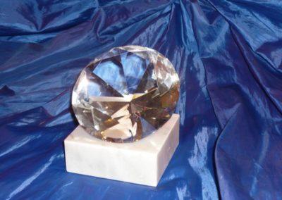 Diamantkristall mit Wunsch-Gravur