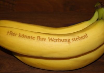 Ihre Werbung auf Bananen