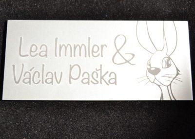 Lasergravur, Laserbeschriftung, Design Schilder