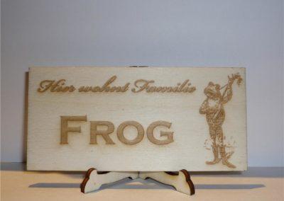 Holz Schild mit Gravur