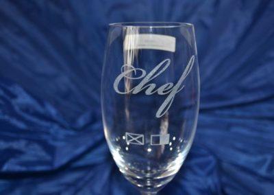 Gravierte Sektglas mit Individueller Gravur