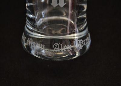 Glasgravur Lasern nach Kundenwunsch
