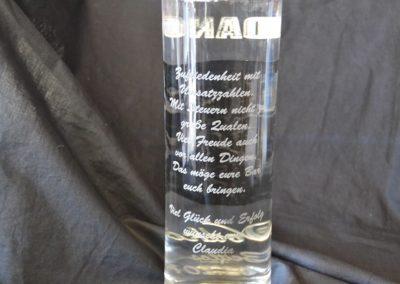 glas flasche lasergravur