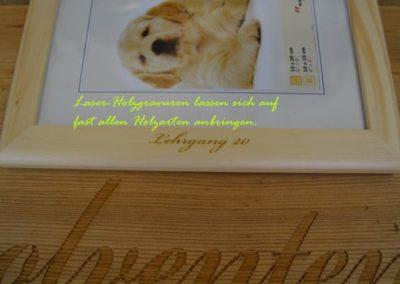 Laser-Holzgravur
