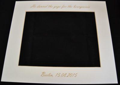Laserbeschriftung auf Papier
