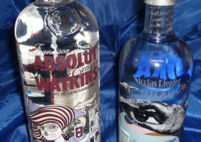 Flaschenoberfläche graviert