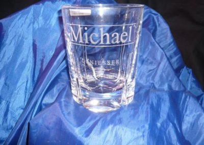 Gravierte Whiskey-Gläser