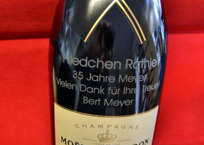 Persünliche Gravur Champagner Flasche