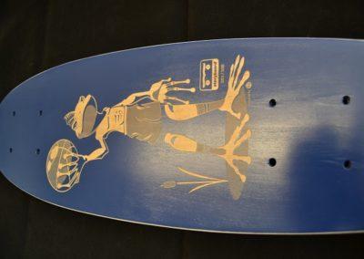 Skateboard mit Gravur der Traum könnte wahr sein